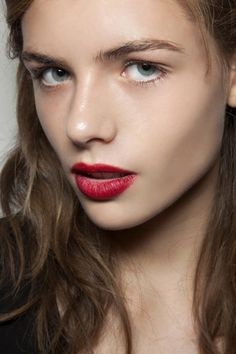 Burberry Beauty Lip Velvet Long Wear Lipstick in Military Red                   Source: IMAXTREE