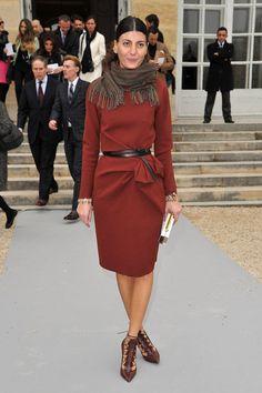 Giovanna at Christian Dior: Garden Arrivals - Paris Fashion Week Womenswear Fall/Winter 2012