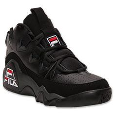 Men's Fila 95 Retro Basketball Shoes | FinishLine.com | Black/White/Fila Red