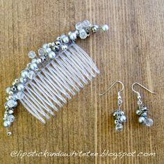 DIY hair comb  matching earrings instructions