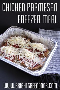 How to Make Restaurant Style Chicken Parmesan at home! - Restaurant Style Chicken Parmesan Freezer Meal www. Freezable Meals, Make Ahead Freezer Meals, Freezer Cooking, Easy Meals, Batch Cooking, Meal Prep Freezer, Freezer Burn, Inexpensive Meals, Frugal Meals