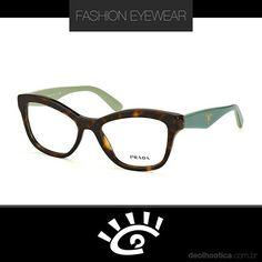 e1fea0d67 O modelo Prada PR29RV 2AU1O1 - Havana é elegante sofisticado e discreto  estilo clássico um óculos