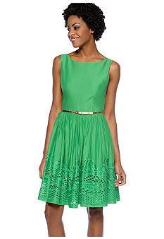 Jessica Howard Sleeveless Fit and Flare Belted Dress - Belk.com