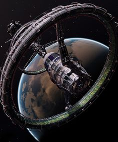 Orbis station from Elite:Dangerous video game Más Spaceship Art, Spaceship Design, Spaceship Concept, Concept Ships, Concept Art, Arte Sci Fi, Sci Fi Art, Art Science Fiction, Space And Astronomy