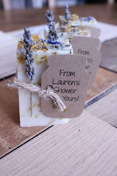 Bridal Shower Favors,wedding favors,wedding favors rustic,rustic wedding favor,party favor Lavender Calendula Guest Soap Bridal Shower Favorswedding favorswedding by BrowniesandGinger Rustic Wedding Favors, Wedding Favors For Guests, Bridal Shower Rustic, Beach Wedding Favors, Wedding Ideas, Bridal Shower Favors Diy, Wedding Venues, Bridal Shower Guest Gifts, Bridal Brunch Favors