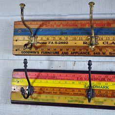 Yard stick peg rail