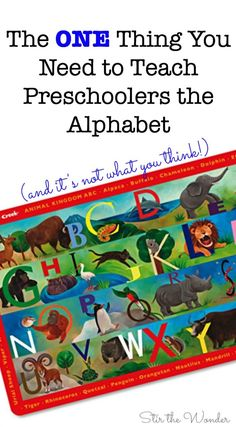Are you struggling to teach your preschooler the alphabet? Here's the One Thing You Need to Teach Preschoolers the Alphabet! Kids Learning Activities, Alphabet Activities, Teaching Kids, Educational Activities, Preschool Alphabet, Preschool Education, Preschool Ideas, Teaching Letter Recognition, Teaching Letters