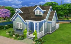 Sims 4 Homes — Eeva Grounds 20 x 15 Family Home bed 1 bath) §. Sims 4 House Plans, Sims 4 House Building, Modern House Floor Plans, Small House Layout, House Layouts, Sims 4 Family House, Home And Family, Sims 4 Tattoos, Sims 4 House Design