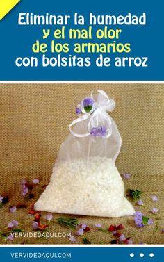 Eliminar la humedad y el mal olor de los armarios con bolsitas de arroz  #armarios #humedad #malolor #deodorant #bolsitas #arroz