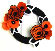 Hey, I found this really awesome Etsy listing at http://www.etsy.com/listing/151795971/black-white-and-orange-halloween-12-inch