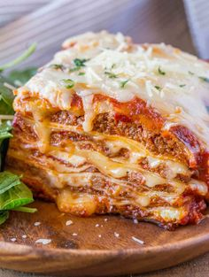 Ultimate Meat Lasagna - Four cheeses, a homemade marinara sauce and a few quick chef tricks will make you feel like you've ordered lasagna at your favorite Italian Restaurant.
