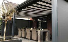 Zonnescherm geplaatst in Utrecht. #zonnescherm #discount #sale #jvszonwering #knikarmscherm Utrecht, Outdoor Decor, Room, Furniture, Home Decor, Bedroom, Rooms, Interior Design, Home Interior Design