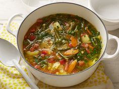 Garden Vegetable Soup Recipe : Alton Brown : Food Network - FoodNetwork.com  #soup #vegetarian