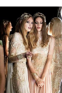 sneakers and pearls, earthy angels, ethereal dresses, sequined dresses, wreath headbands, trending now.jpg