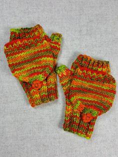Boys /& Girls Unisex Bright Colourful Stripy Super Soft Fine Knit Winter Mittens
