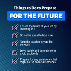 Things to Do to Prepare for the Future