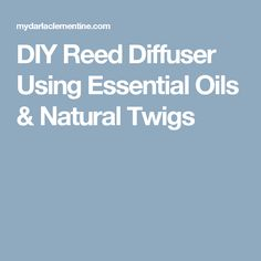How to make a diy reed diffuser at home using essential oils & natural twigs. Turotial for drying/peeling twigs, which oils to use + how to maintain scent. Natural Essential Oils, Natural Oils, Homemade Reed Diffuser, Holistic Remedies, Diy, Bricolage, Do It Yourself, Homemade, Diys
