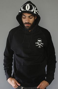 The Wreath Hoody in Black by Crooks and Castles