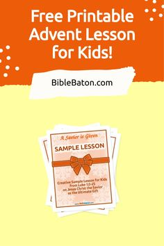 Looking for a free Advent lesson for children's church or Sunday School? Look no further! This Christmas Bible lesson plan for kids, based on Luke 1, does a beautiful job of introducing the events surrounding Christ's birth in a way that's fun and engaging for children. Click through to get your free printable Advent lesson for children now! Family Bible Study, Bible Study Guide, Preschool Printables, Free Printables, Scripture Memorization, Christmas Bible, Bible Resources, Luke 1, Bible Lessons For Kids