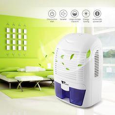 Amzdeal Portable Mini Dehumidifier for Bathroom Bedroom Kitchen 1500ml Capacity: Amazon.co.uk: Kitchen & Home