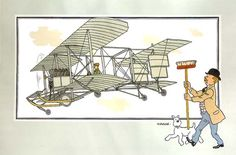 Avion 31 : Biplan de Breguet (France) // tintin's moustache (!!)