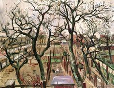 """wonderingaboutitall: """"Orchard In Winter - Lovis Corinth """""""