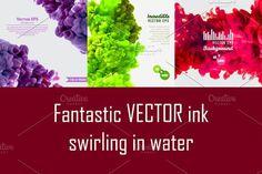 Swirling ink in water. Patterns