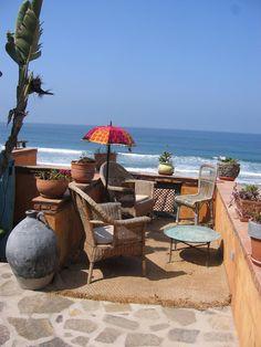 Terrace facing Beach