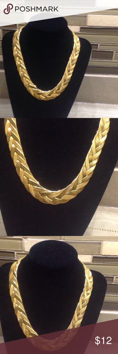"Vintage Napier Gold Plated Braided Necklace Vintage Napier Gold Plated Braided Necklace- Like New 17"" Length  Nice Quality Napier Jewelry Necklaces"