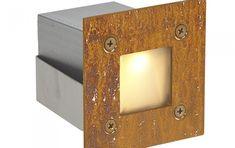 De LED inbouwspot Cadre Mini 24 Volt Corten Staal van Led-e-Lux presenteert zich als een spot met vele inbouw mogelijkheden. Zowel binnen- als buitenshuis is deze RVS LED inbouwspot te gebruiken om uw persoonlijke licht sfeer te creëren. Rvs, Candle Sconces, Wall Lights, Candles, Lighting, Mini, Design, Home Decor, Lush