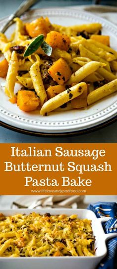 Could You Eat Pizza With Sort Two Diabetic Issues? Italian Sausage And Butternut Squash Are Combined With Penne Pasta And Topped With Smoked Gouda Cheese In This Delicious, Comforting Dinner Recipe. Penne Pasta, Pasta Bake, Best Pasta Recipes, Easy Dinner Recipes, Pasta Dishes, Food Dishes, Side Dishes, Main Dishes, Kitchen Recipes