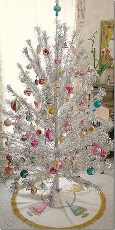 silver vintage christmas - Google Search