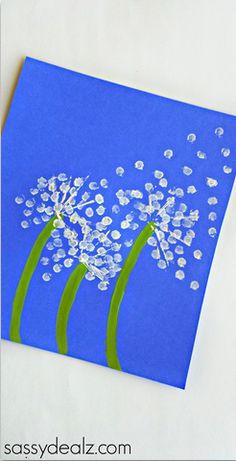 Q-Tip Dandelion Mother's Day Card for Kids to Make - Sassy Dealz