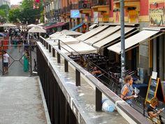 Via Satosi, Navigli district leading to Porta Ticenese canal.  © 2014 Stella Lucente, LLC www.learntravelitalian.com