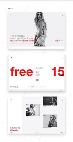 Infographics , UI Design et Web Design - Showcase and discover creative work on the world's leading online platform f. Minimal Web Design, Interaktives Design, Page Design, Website Design Layout, Web Layout, Layout Design, Webdesign Inspiration, Website Design Inspiration, Inspiration Art