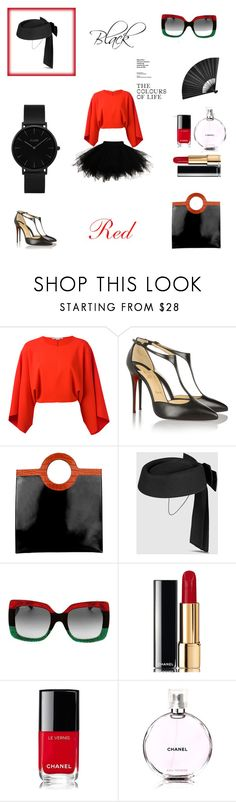 """""""Untitled #16"""" by tatuli-togoxia ❤ liked on Polyvore featuring STELLA McCARTNEY, Christian Louboutin, Givenchy, Gucci, Chanel and CLUSE"""
