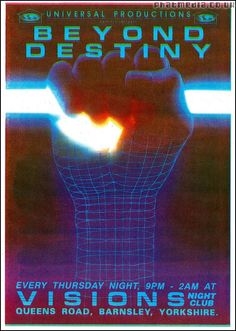 Beyond Destiny 1992 rave flyer @ Visions Barnsley