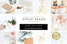 Green & Gold 9 Grid Instagram Bundl… by RW | Productions on @creativemarket