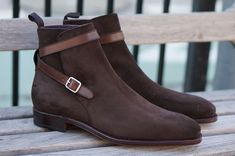 Handmade Men Chocolate Brown Suede Leather Jodhpurs Boots, Men Ankle Boots - Boots
