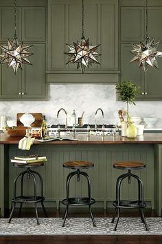 green kitchen design idea 6