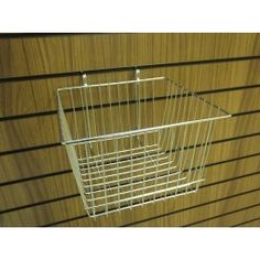 Slatwall chrome mesh basket. This slatwall accessory will make a perfect addition to your slatwall display. Slots easily into your slatwall panel to display many small items such as gift displays, soft toy displays, diy displays and more.
