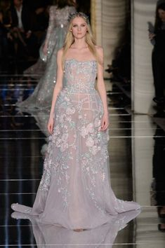 Zuhair Murad sheer dress at Couture Fashion Week 2016 (All Runway Looks)