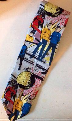 Star Trek crew fabric Necktie by TheGeekForge on Etsy, $15.00