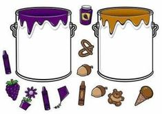 * Doe alles in de juiste verfpot! Color Activities, Learning Activities, Activities For Kids, File Folder Activities, Teaching Colors, Color Games, Tot School, Preschool Learning, Infant Activities