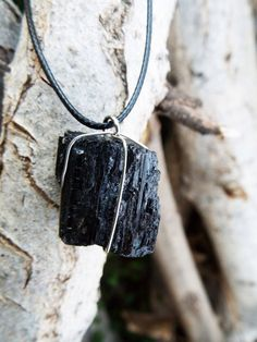 Obsidian Black Pendant Gemstone Silver Rough Handmade Necklace Protection Sterling 925 Gothic Solid Precious Rock Faceted Untouched Jewelry