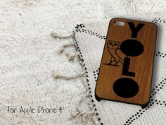 YOLO Wood iPhone 4 iPhone 4S Case by gardenpiano on Etsy, $15.79