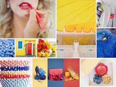 Primary Colors - Red, Yellow, and Blue Wedding Inspiration // http://burnettsboards.com/2012/06/primary-colors/