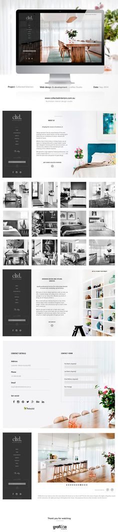 Collected Interiors Website Designed By Grafika Studio www.grafikastudio.com.au