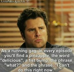 I thought it was just the pineapple! Better start up psych marathon number three Psych Memes, Psych Tv, Psych Quotes, Shawn And Gus, Shawn Spencer, I Know You Know, Great Tv Shows, Best Shows Ever, Best Tv