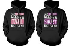 If you are looking for a high quality matching hoodies, this is it! Made in USA, our BFF matching hoodies are individually printed using a digital printer and quality is assured. BFF Matching Hoodies, designed and printed in USA. Hoodie Sweatshirts, Pullover Hoodie, Sweater Hoodie, Pullover Sweaters, Bff Shirts, Couple Shirts, Disney Shirts, Best Friend Pullover, Best Friend Hoodies